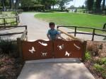 Creative, child-sized gate (Santa Barbara Zoo)