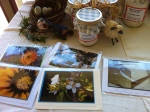 A new set of student garden photography on gift cards